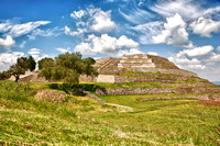 Pyramid of the Flowers - Xochitecatl archaeological site in the state of Tlaxcala, Mexico