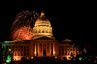 Fireworks at MIssouri Capitol