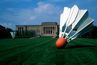 Shuttlecock sculpture at Nelson Art Museum in KC, MO
