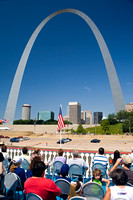 Gateway Arch from Riverboat, St. Louis, MO