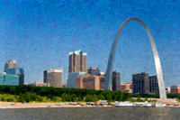 St. Louis Skyline as seen from Riverboat