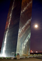 Gateway Arch and Moon