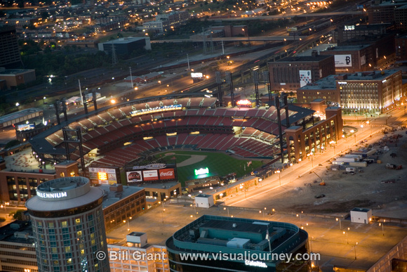 Busch Stadium - Viewed from Top of Arch