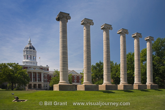 University of Missouri - Columns of Academic Hall and Jesse Hall