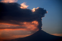 Mt. Popocatepetl Volcano in Mexico